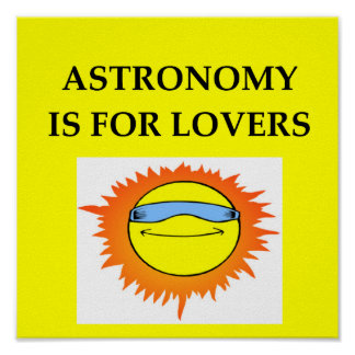 ASTRONOMY is for lovers Print