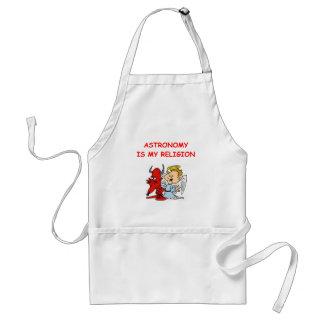 astronomy joke adult apron