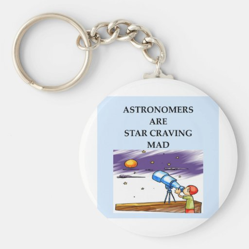 astronomy joke basic round button keychain