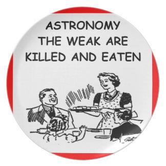 astronomy joke party plate