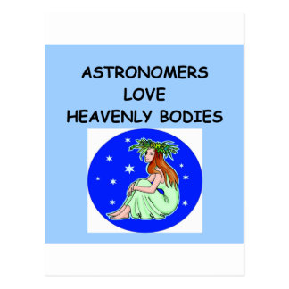 astronomy joke postcard