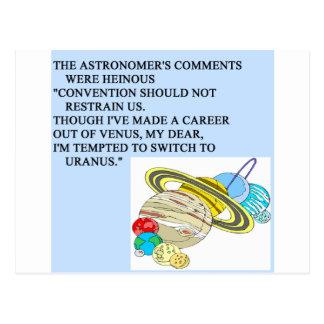 astronomy  limerick postcard