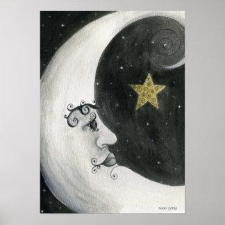 Astronomy - Moon Print