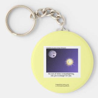 Astronomy Moonlighting Cartoon Funny Key Chain