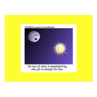 Astronomy Moonlighting Cartoon Funny Postcard