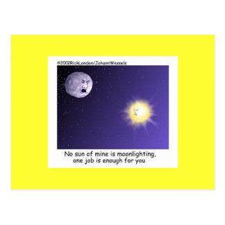 Astronomy Moonlighting Cartoon Funny Postcard