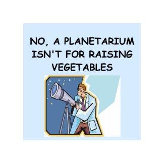 ASTRONOMY planetarium joke card