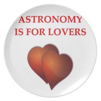 astronomy dinner plates