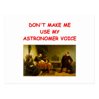 ASTRONOMY POST CARD