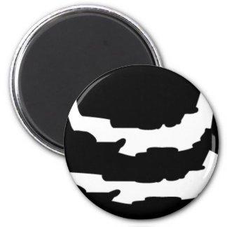 ASTRONOMY RIPPED PLANET VECTOR LOGO ICON SPACE 2 INCH ROUND MAGNET