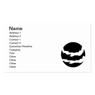 ASTRONOMY RIPPED PLANET VECTOR LOGO ICON SPACE Double-Sided STANDARD BUSINESS CARDS (Pack OF 100)