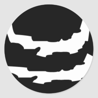 ASTRONOMY RIPPED PLANET VECTOR LOGO ICON SPACE CLASSIC ROUND STICKER