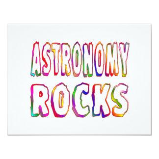 Astronomy Rocks Personalized Invitation