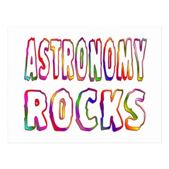 Astronomy Rocks Postcard