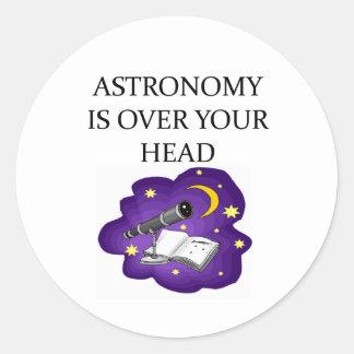 ASTRONOMY ROUND STICKER