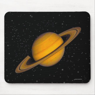 Astronomy Saturn Planetary Image Mouse Pad