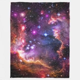 Astronomy, Starry Wingtip, Small Magellanic Cloud Fleece Blanket