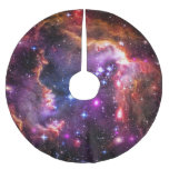 Astronomy, Starry Wingtip, Small Magellanic Cloud Brushed Polyester Tree Skirt