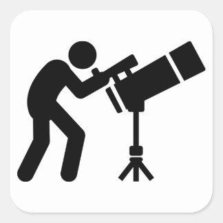 Astronomy Square Sticker