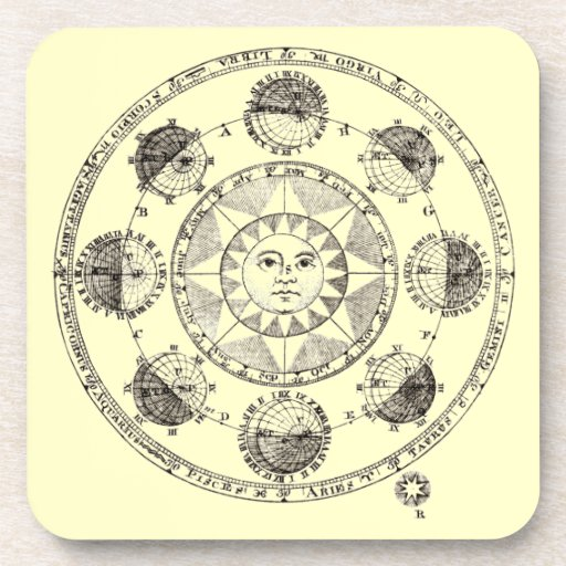 Astronomy Sun and Eclipses Drink Coaster