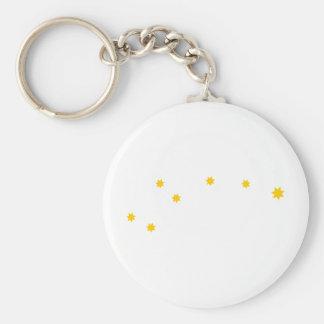 astronomy-ursa-minor basic round button keychain