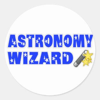Astronomy Wizard Classic Round Sticker