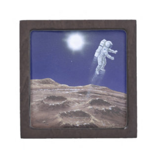 Astronuat Above Mercury Jewelry Box