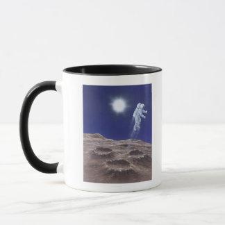 Astronuat above Mercury Mug