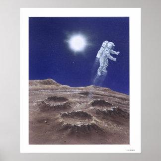 Astronuat Above Mercury Poster