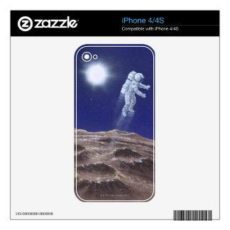 Astronuat above Mercury iPhone 4 Decal