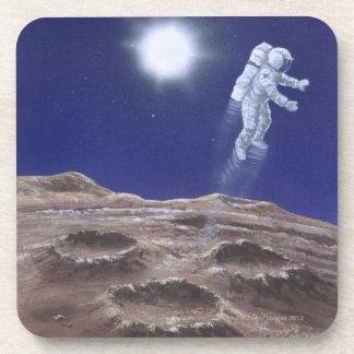 Astronuat sobre Mercury Posavasos De Bebidas