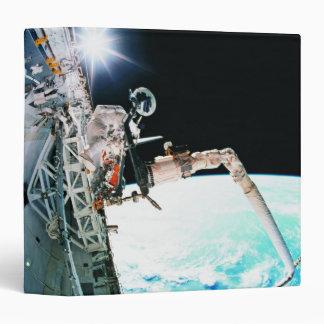 Astronuat Working in Space Vinyl Binder