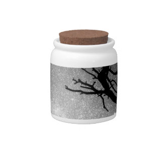 Astrophotography Night Black and White Portrait Candy Jar