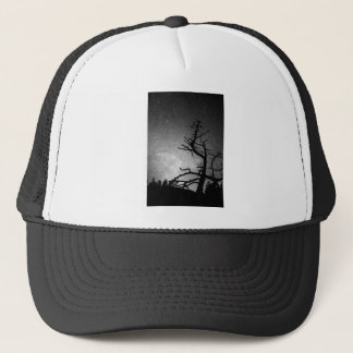 Astrophotography Night Black and White Portrait Trucker Hat