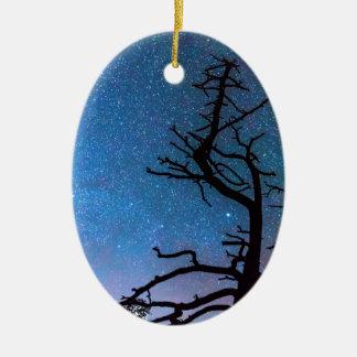 Astrophotography Night Ceramic Ornament