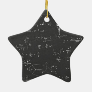 Astrophysics diagrams and formulas ceramic ornament