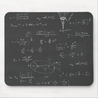 Astrophysics diagrams and formulas mouse pad