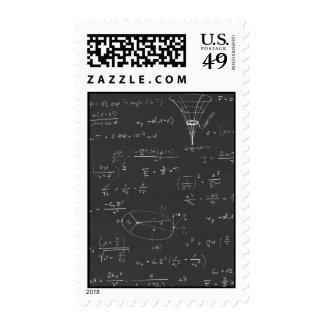 Astrophysics diagrams and formulas stamp