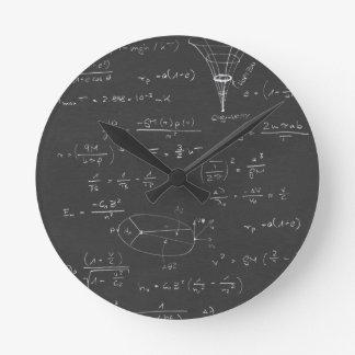 Astrophysics diagrams and formulas round clock