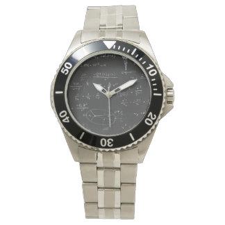 Astrophysics diagrams and formulas wrist watch