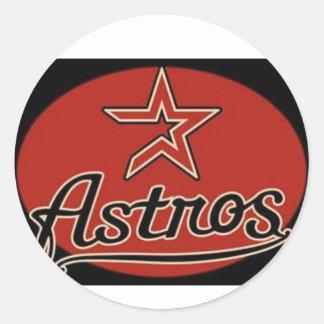 Astros Pegatina Redonda