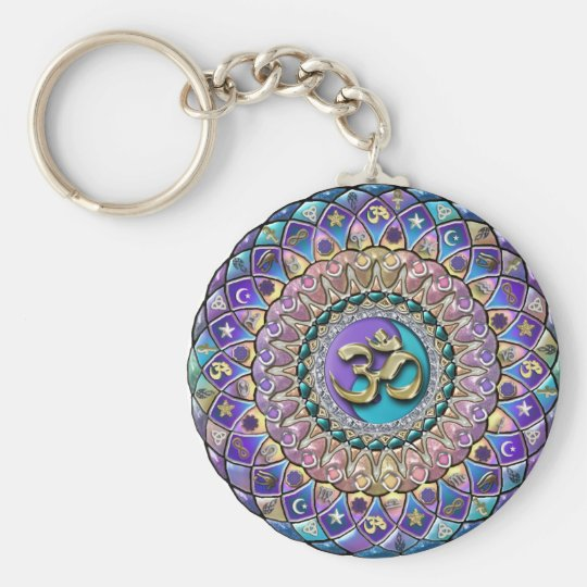 Astrosymbology Rainbow Mandala Keychain