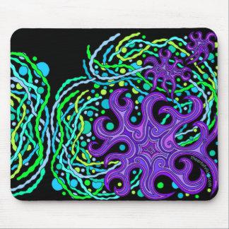 Astrum Vita Purple Green Star Life Art Mouse Pad