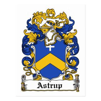 Astrup Family Crest Postcard