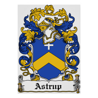 Astrup Family Crest Poster
