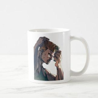 Astucia que peina el pelo taza de café