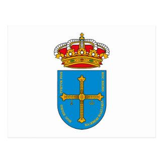 Asturias Coat of Arms Postcard