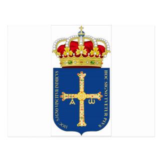 Asturias Coat of Arms (Spain) Postcard