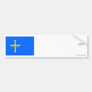 Asturias flag bumper sticker