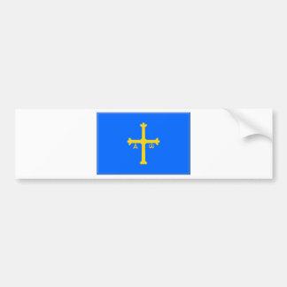 Asturias Flag (Spain) Car Bumper Sticker
